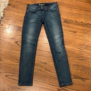 Zara sexy faded wash seamed straight skinny jeans